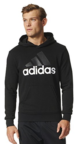 adidas Herren Essentials Linear P/O French Terry Hoodie, schwarz (Black/White), 2XL