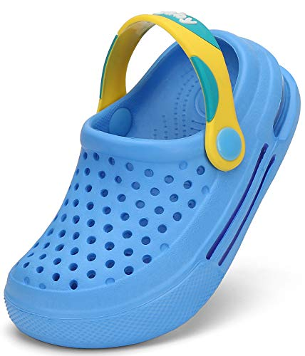 SAGUARO Zoccoli Bambini Clogs Ragazze Pantofole da Giardino Spiaggia Ragazzi Sabot Piscina Ciabatte Bambino Cielo Blu Gr.24-25 EU