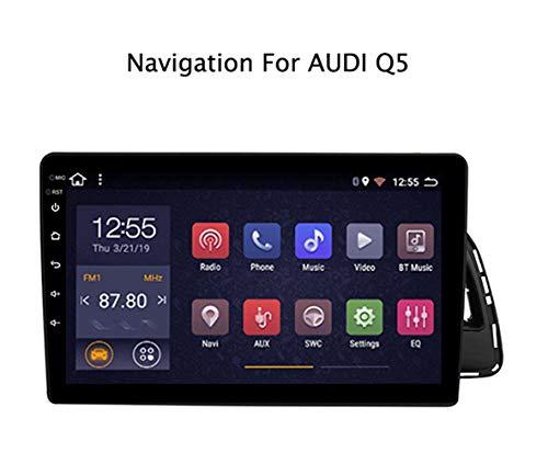 Android 8.1 Car Radio de navegación GPS para Audi Q5 2010-2018 9 Pulgada Pantalla LCD Táctil Apoyo Mandos de Volante/Mirror Link/USB/AUX in,4G+WiFi:1+16G