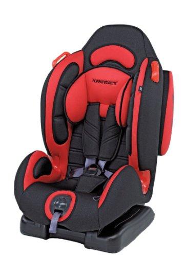 Foppapedretti Dinamyk 9-25 Seggiolino Auto, Rosso GRUPPO 1/2 (9-25 Kg) per bambini da 9 mesi a 6 anni circa