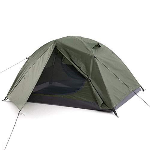 Tienda de campaña de campaña 2P para acampar al aire libre, tienda de campaña de 4 estaciones con falda de nieve de doble capa impermeable senderismo tienda de senderismo