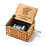 Evelure Caja musical de madera tallada a mano y tallada a mano de Juego de Tronos. Creativos los mejores regalos (B)