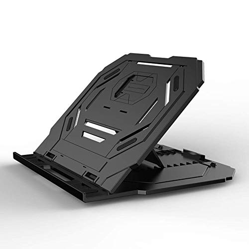 CMmin Computer Stand Verstelbare Laptop Stand Gepatenteerde Riser Geventileerde Draagbare Opvouwbare Draaibaar Compatibel Met Notebook Tablet Tray Bureau Tafel Zwart