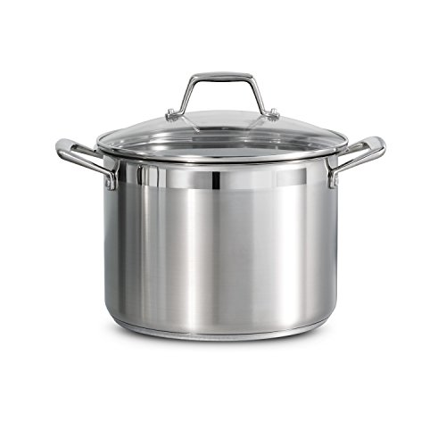 Tramontina Lock & Drain Pasta Cooker Pot with Strainer Lid 18/8 Stainless Steel 8 Qt, 80120/509DS