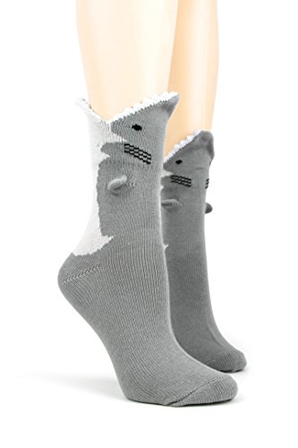 Foot Traffic Men's Happy Alligator 3 Dimensional Trouser Socks
