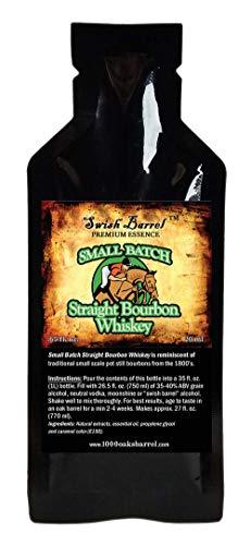 Small Batch Bourbon Whiskey Premium Essence | Bootleg Kit Refills | Thousand Oaks Barrel Co. | Gourmet Flavor for Cocktails Mixers and Cookery | 20ml .65 sachet