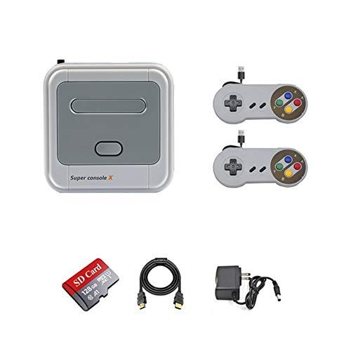 Q&N Consola De Videojuegos Arcade Retro Game Emulator Console Preinstalación 40000 Juegos HD 4K Salida HDMI 128G Mini Consola Portátil para Niños