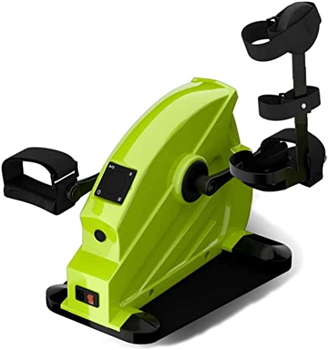 RRB RRB Bicicleta de rehabilitación Mini Entrenador portátil RRB Debajo del Escritorio Ejercitador de recuperación del Brazo de la Pierna Entrenamiento Cardiovascular con Resistencia Ajustable-B