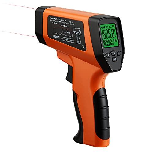 BBQGO Infrarot Thermometer ,Digitale Temperaturpistole mit dualer Laserpositionierung, Berührungslose -50℃ bis 750℃ ,Einstellbarer Emissionsgrad für Kochen/Automotive/Industrie (Nicht für Menschen)