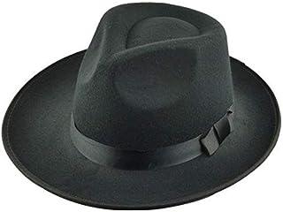 قبعة فيدورا صوف اسود -رجال