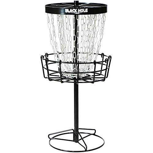 MVP Black Hole Mini 24-Chain Disc Golf Basket Target