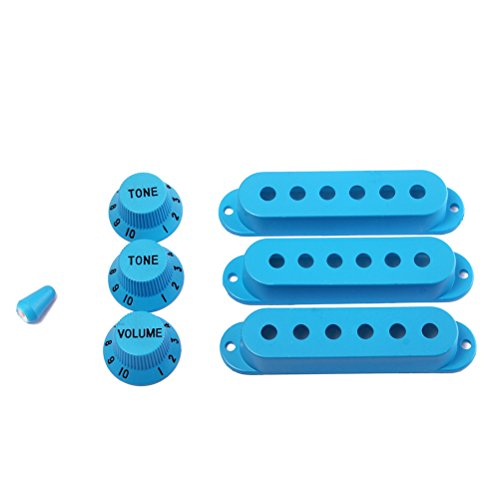 UKCOCO Strat Guitar Pickup Covers Perillas Switch Tip Set para Fender Stratocaster...