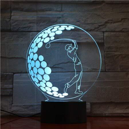 Schlafzimmer Dekoration nachtlicht Sport Golf Phantom tischleuchte Touch Sensor Farbe nachtlicht für Kinder und Kinder