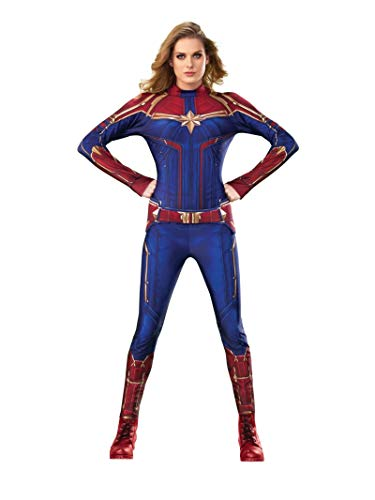 Rubie's Costume Company Women's Captain Marvel Hero Suit, As Shown, Small