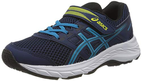 Asics Unisex-Child Contend 5 PS Running Shoe, Blue Expanse/Island Blue, 33 EU