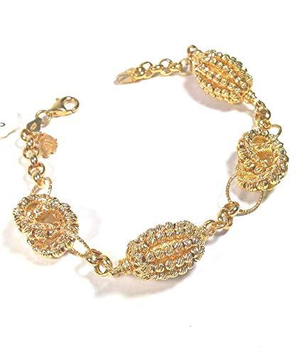 RIVIELLO Pulsera de mujer de plata con cadena de círculos y esferas de plata original dorado Talla única