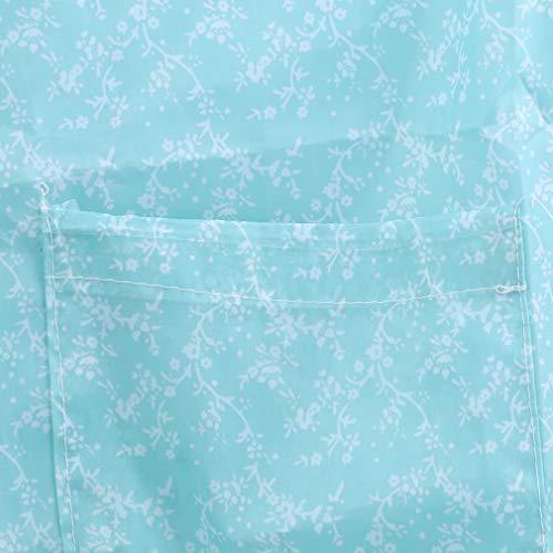 #N/A Zoomne - Delantal de manga larga floral para hornear para cocina y cocina