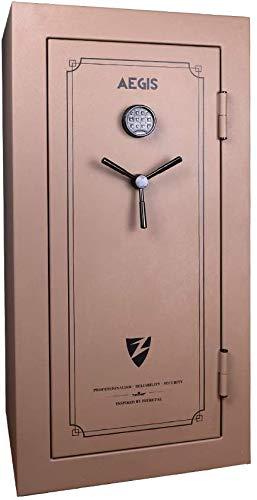 15.72 cu.ft Large Electronic Fireproof Rifle Gun Safe Cabinet UL Certification, Security Gun Safe Box with Handgun Bags(Champagne)- AEGIS