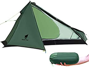 GEERTOP Backpacking 1 Person Tent for Camping Lightweight Trekker Pole Tent 3 Season for Outdoor Survial Travel - Easy to Set Up with The Trekking Poles (Not Include)