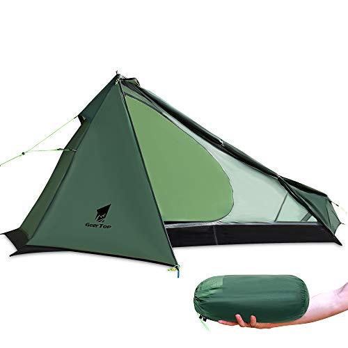 GEERTOP Upgrade Ultralight 3 Season 1 Personenzelt für Camping Backpacking Wandern Reisen - Zelte mit einem Trekkingstock (ohne den Stab) Einfach aufzubauen