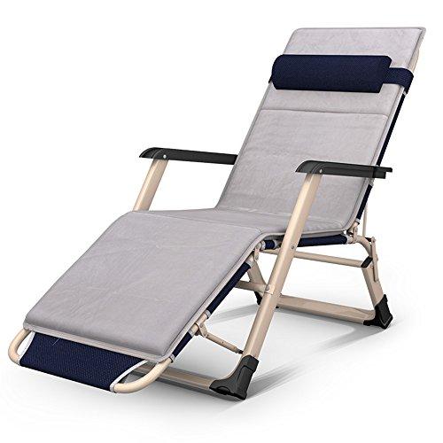 Dekstoel JCOCO Opvouwbare Lounge Stoelen - Draagbare Gratis Installatie 3 Opklapbare Bedstoelen/Tweepersoonsbedden/Eenpersoonsbedden/Kantoor Luie Bedden/Ziekenhuisbedden/Briefing Bedden/Camp/Onzichtbare Bedden Grijs