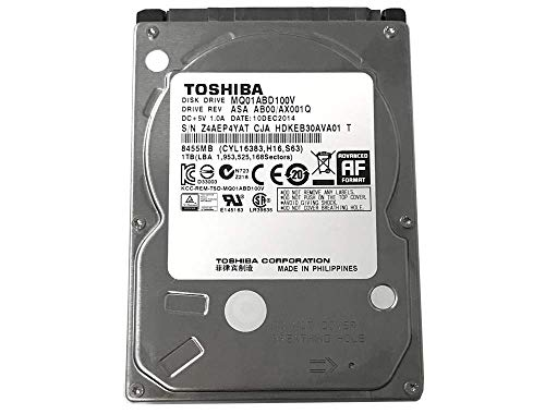 Toshiba 1TB 5400RPM 8MB Cache SATA 3.0Gb/s 2.5 inch PS3/PS4 Hard Drive - 3 Year Warranty (Renewed)