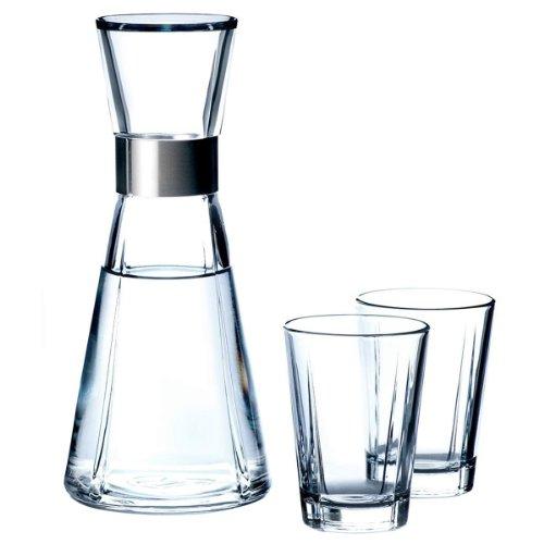 Rosendahl Grand Cru 25143-Caraffa per Acqua e 2 Bicchieri in Vetro, 0,9 L