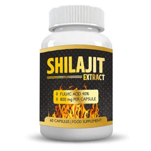 Shilajit Extracts by Be natural 800 Mg 60 Capsules Pure shilajit for Mens