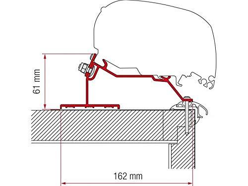 Fiamma Vorzelt-Adapter Halterung für Wohnwagen Dach 450cm Dethleffs Fendt LMC Trigano