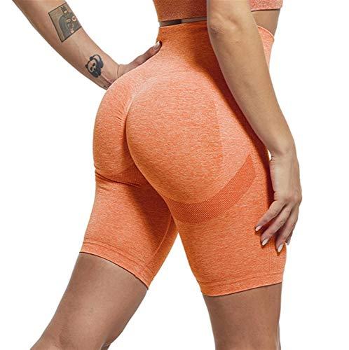 LBBL Leggings y medias deportivas Pantalones Cortos Deportivos Sin Costuras, Para Mujeres Push Up Cintura Alta Yoga Corto Ciclismo Correr Fitness Entrenamiento Slim Gym Leggings mujeres pantalones cor