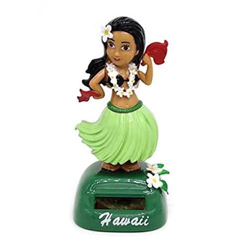 Kwangchow Muñeca de Hula Hawaiana con energía Solar, Figura de Baile para el salpicadero del Coche, Figura Decorativa de Bailarina de Hula
