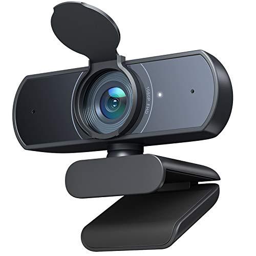 Victure 1080P Webcam mit Mikrofon, USB Videokamera Plug & Play für PC, Laptop, Computer, Streamcam mit automatischer Lichtkorrektur, für Live-Stream
