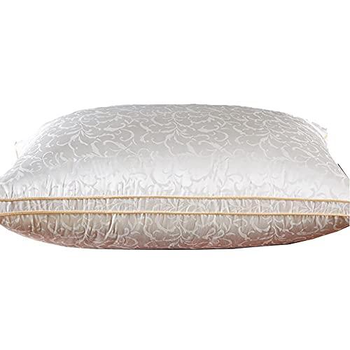 DMTFOS Cinco estrellas Hotel Suite Dedicado Almohada de plumas de seda de plumas de ganso blanco abajo almohada individual/1 pieza