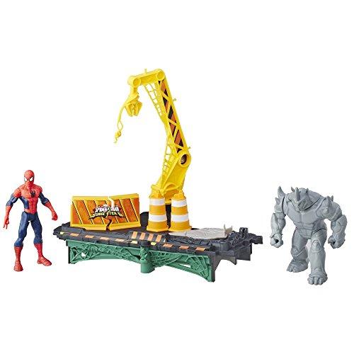 Marvel - B7199 - Ultimate Spider-Man Sinister 6 Spielzeug - Rhino Rampage Spielset - Plus Spiderman und Rhino Action-Figuren