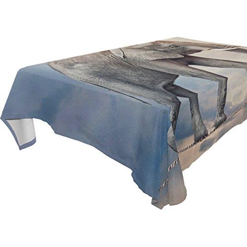 Coosun rectangle éléphant au Nappe pour fête de mariage Vacances lavable Housse de nappe Polyester, 137,2 x 137,2 cm, Polyester, Multicoloured, 60x90(in)