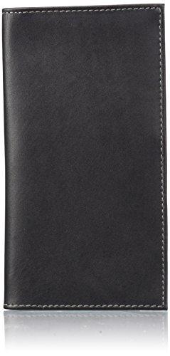 Dopp Men's Regatta Leather Checkbook Secretary, black, One Size