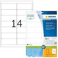 HERMA SuperPrint(99.1 x 38.1 mm)、ボーダー付きラベル、色:白