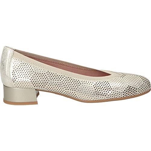 PITILLOS Salon-Schuh aus Pikierleder, goldfarben, Gold - Gold - Größe: 36 EU