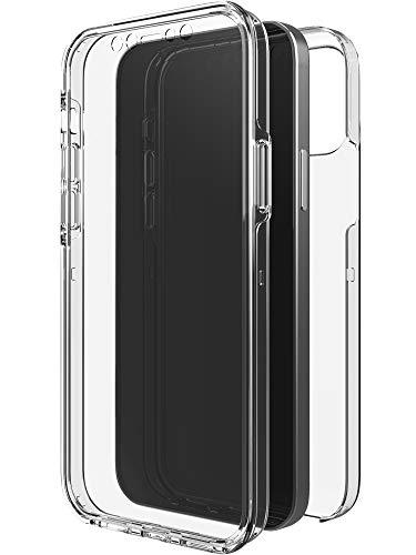 Black Rock - Hülle 360 Grad Clear Hülle passend für Apple iPhone 12/12 Pro I Durchsichtig, Kabellos Laden, Kratzschutz, TPU (Transparent)