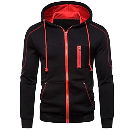 Sudadera con capucha para hombre Hip Hop Zip Hoodie Sportswear Sportswear