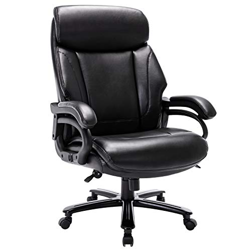STARSPACE High Back Big & Tall 400lb Bonded Leather Office Chair Large Executive...