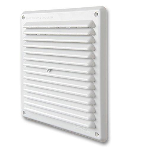 La Ventilazione ADR2023B Griglia di Ventilazione in Plastica Rettangolare da Sovrapporre, Bianco, 204x230 mm