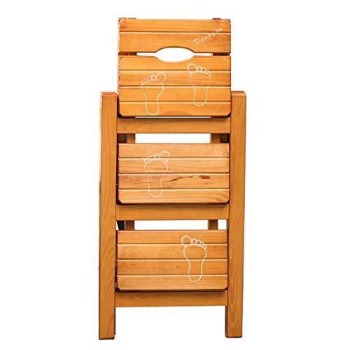 ZHZ-DT Leiterstuhl Treppenstuhl 3 Stufen Klappbar Hockerleiter Holz Haushaltsleiter Tritthocker Faltbar Leiter Stuhl Klappstufen für Küchen Bibliothek Dachboden Workzone, Walnuss