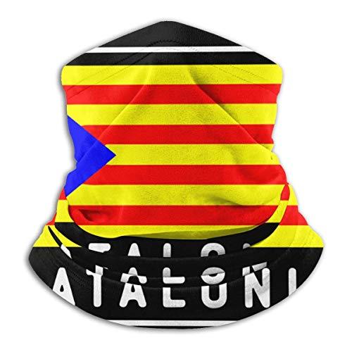 XXWKer Microfibre Chapeaux Tube Masque Visage Tour de Cou Cagoule, Independence for Catalonia Unisex Cold Weather Ultimate Thermal Retention Face