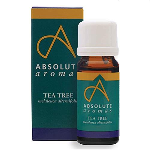 Absolute Aromas ätherisches Teebaumöl 10ml - reines, natürliches, unverdünntes, tierversuchsfreies und vegan - für Aromatherapie, Diffusoren und Gesicht, Haare, Haut und Nagelpflege