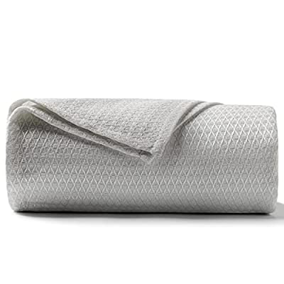 DANGTOP Cooling Blankets, Queen Size 100% Bamboo Blanket for All-Season, Cooling Blanket Absorbs Body Heat to Keep Cool on Warm Night, Ultra-Cool Lightweight Blanket for Bed (79x91 inches, Grey) by DANGTOP