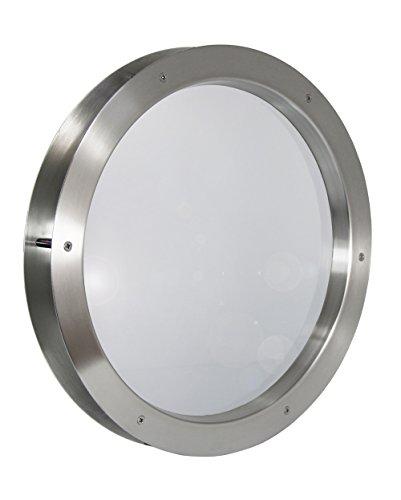 Edelstahl Bullauge TBAM-450 BS Milchglas beidseitig verschraubt Türfenster