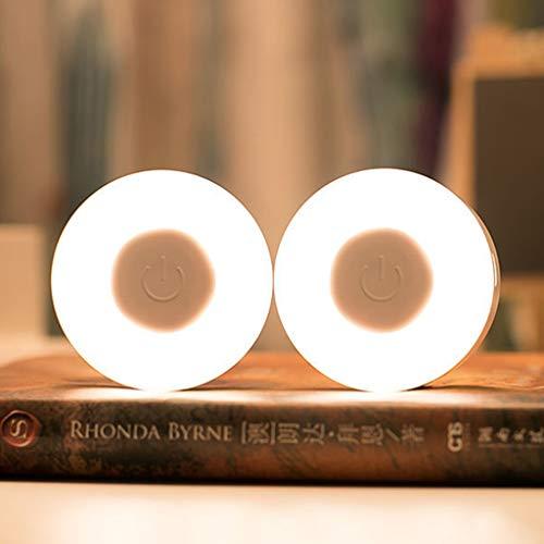 [2 Pack] Mini Luces LED Infantil, Lámparas Compacto USB Recargable Nocturnas para Niños, Viejos 5 LED Bombillas Brillo Ajustable También sirve para Pasillo, Garaje, Esquina de Habitación