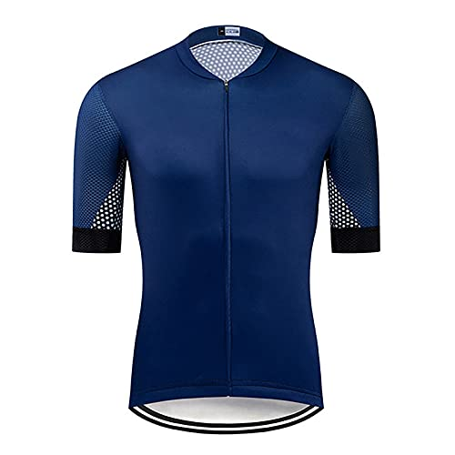 LSZ Jersey de Ciclismo para Hombre, Tejido Transpirable de Secado rápido, Camisetas de Manga Corta para Ciclismo, Camisetas para Montar, Camiseta para Ciclismo, Ropa para Bicicleta