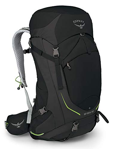 Osprey Stratos 50, Hiking Pack Uomo, Nero, M/L